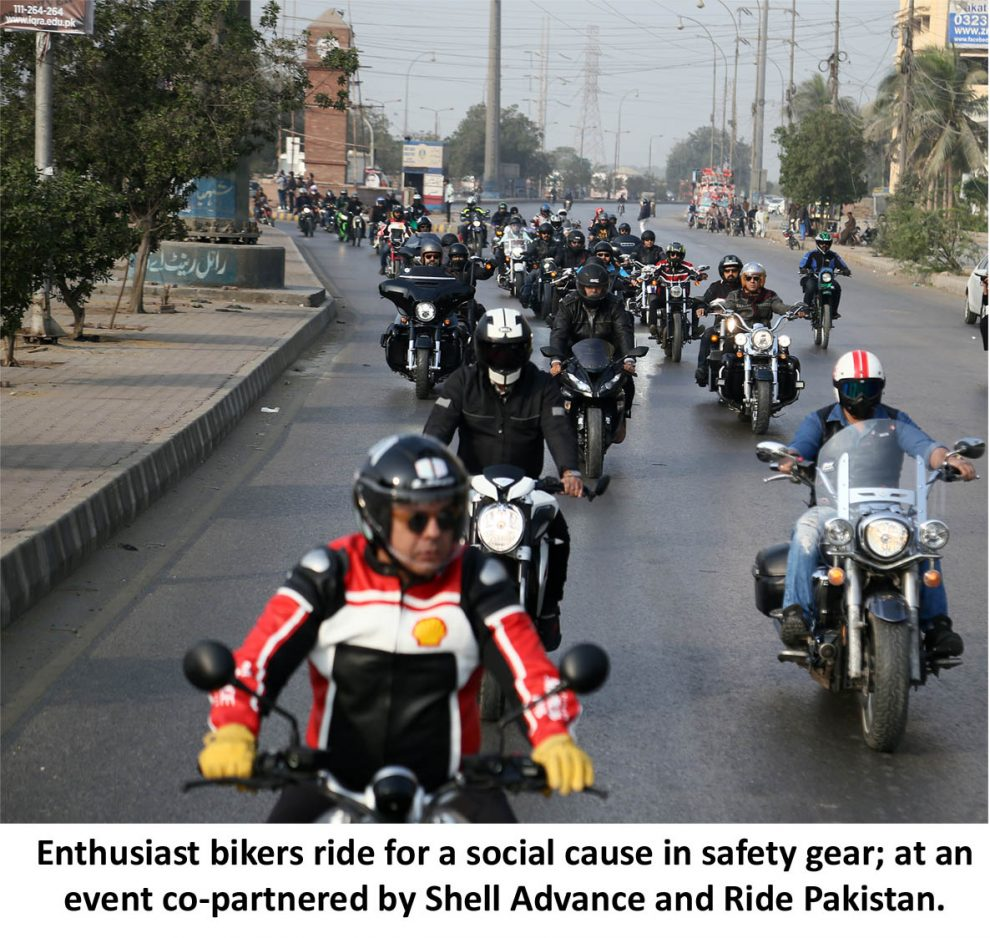 Ride for a Cause; Shell Advance co-partners with Ride Pakistan