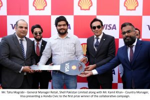 Shell and Visa present Honda Civic to the first prize winner