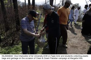 Clean & Green Pakistan Campaign Air University spreads 4,000 seed balls at Margalla Hills