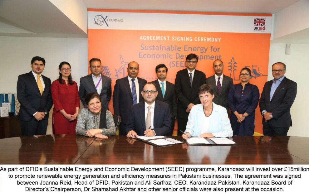 UK-funded Karandaaz to Promote Sustainable Energy and Economic Development